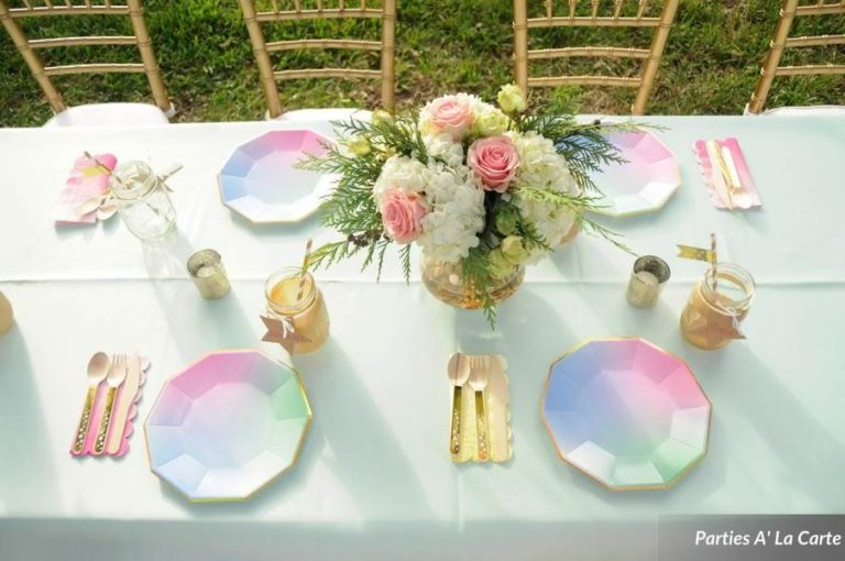 glamping soiree table decore