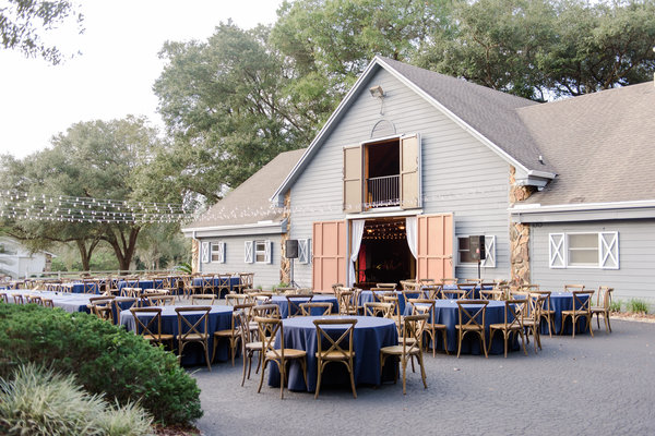 lange farm wedding reception decor, french country chairs