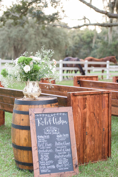 lange farm wedding signage