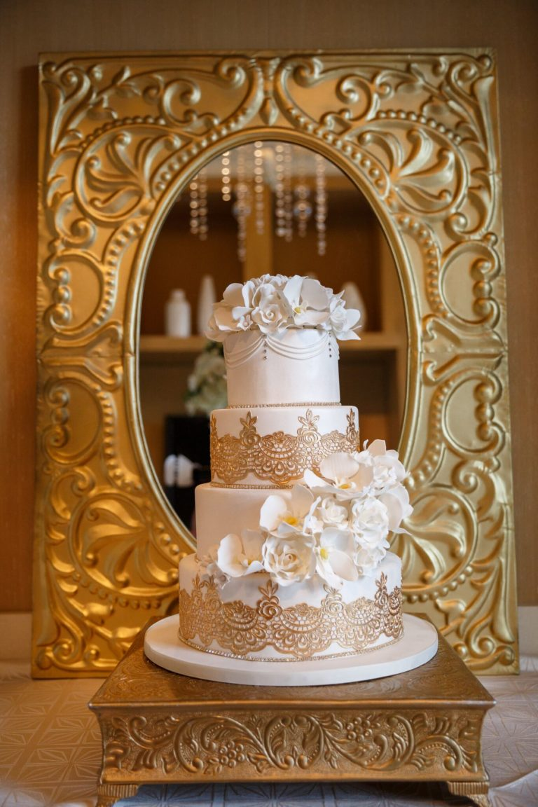 modern elegance styled shoot wedding cake
