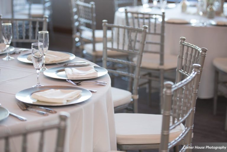 silver and purple wedding silver chiavari chairs