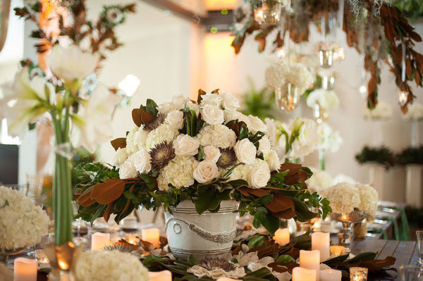 southern elegance wedding inspiration floral centerpiece