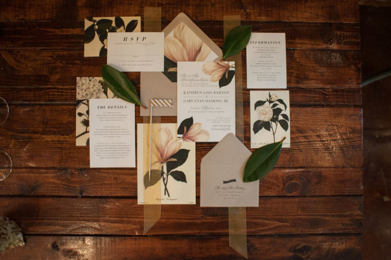 southern elegance wedding inspiration invitations