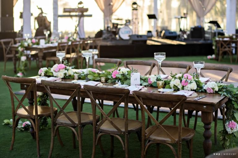 tented isleworth lakeside wedding french country chairs, table decor