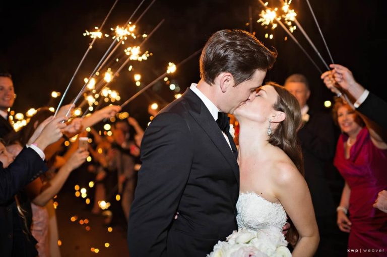 tented isleworth lakeside wedding sparkler exit