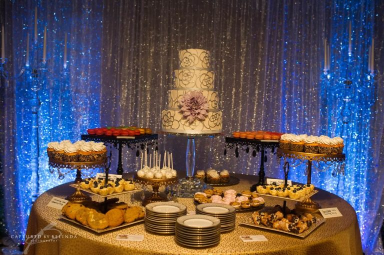 wedding reception design dessert display