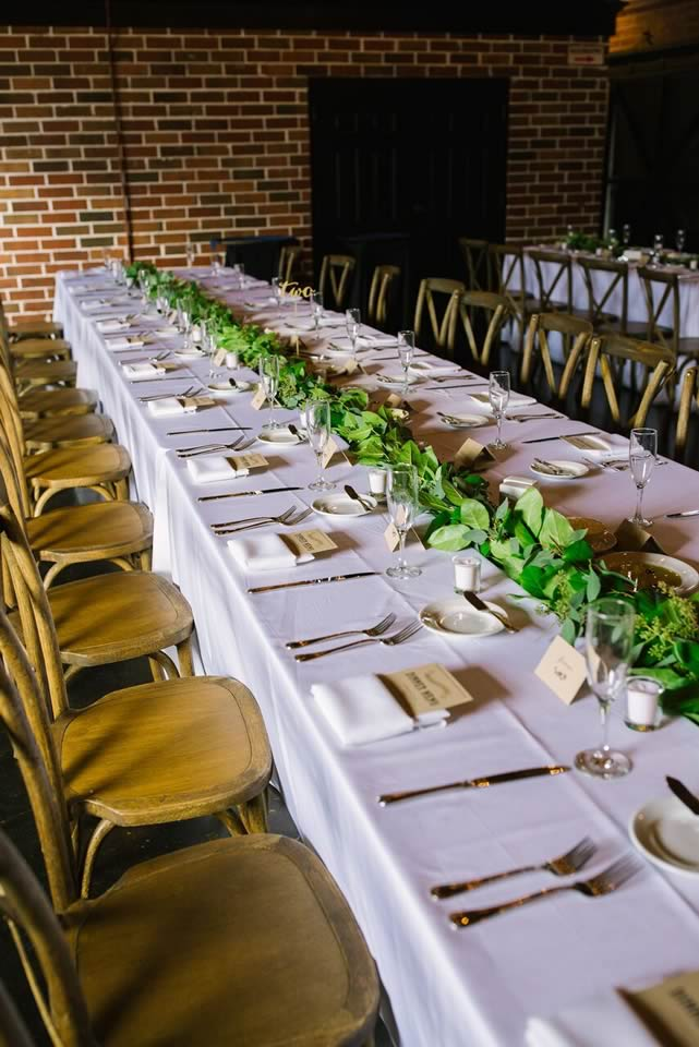 winter park farmers market wedding table setting