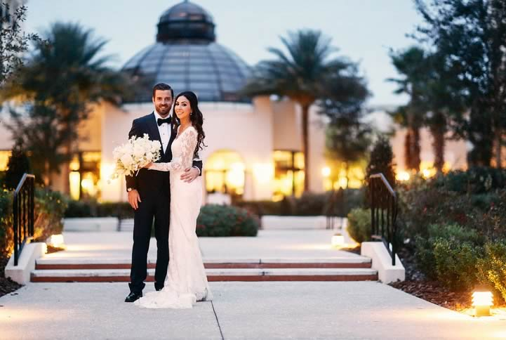 A Sparkly Winter Wedding at the Alfond Inn