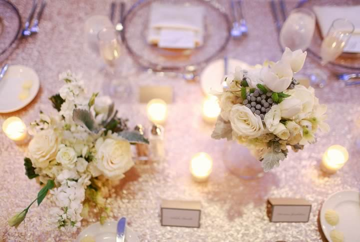 winter wedding floral centerpiece