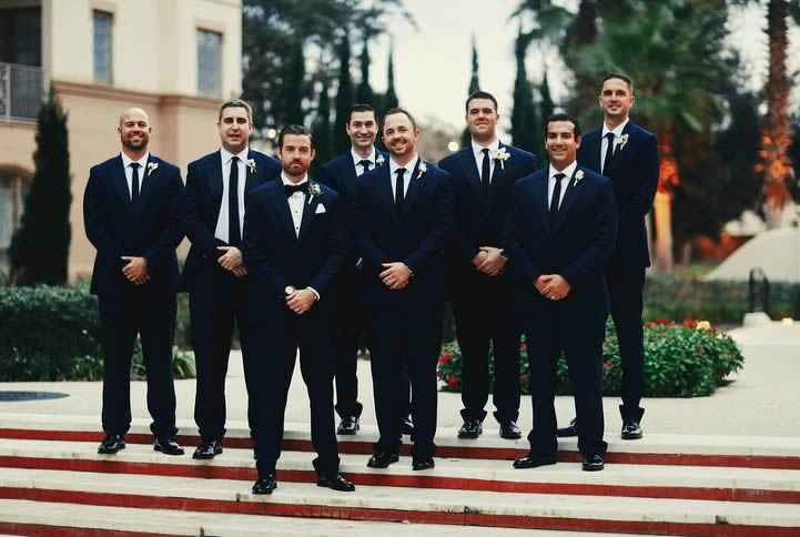 winter wedding groomsmen