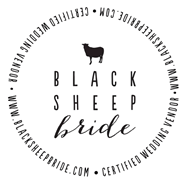 black sheep bride badge