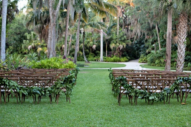 mcKee botanical garden wedding ceremony french country chairs