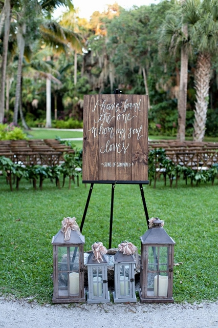 McKee Botanical Garden Wedding Ceremony Signage