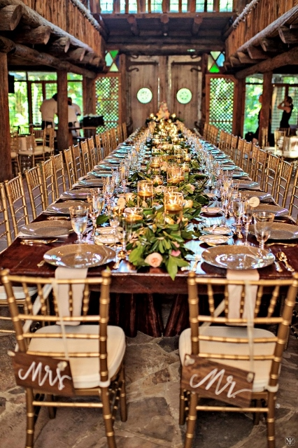 mcKee botanical garden wedding chiavari chairs, table decor