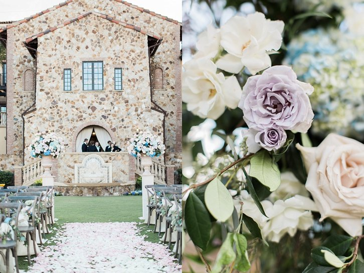 rustic and romantic wedding ceremony decor