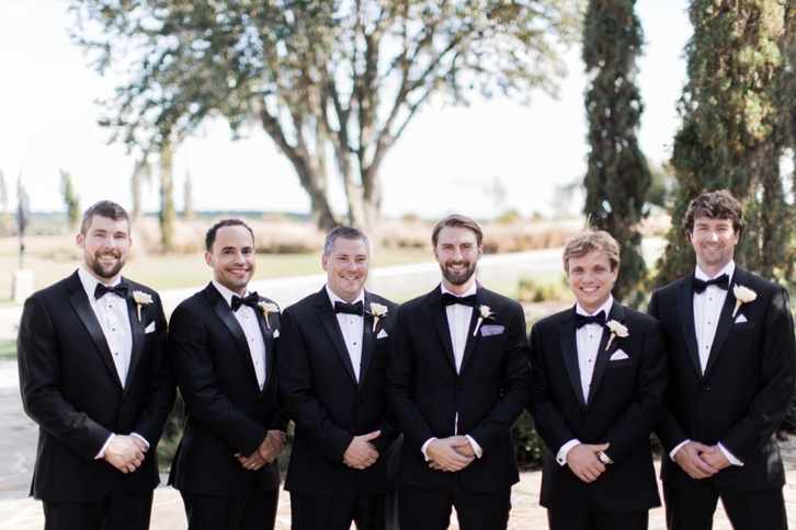 rustic and romantic wedding groomsmen