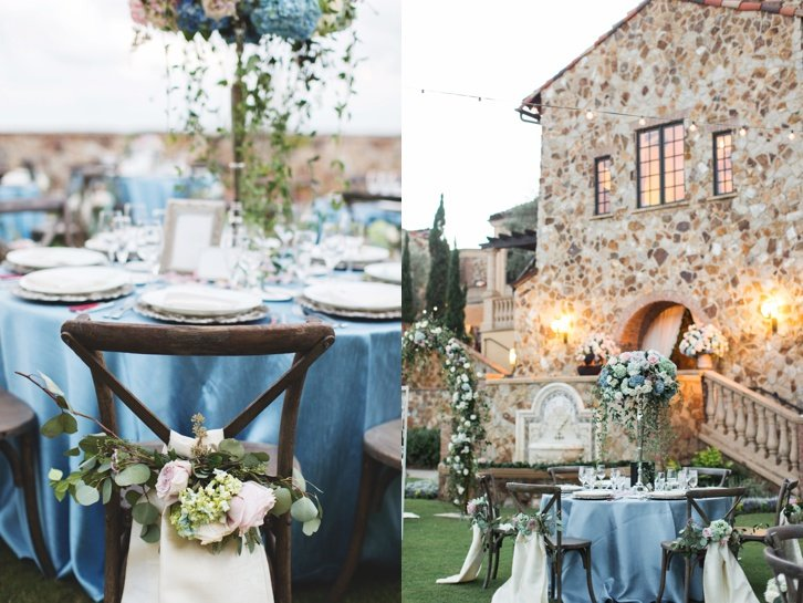 rustic and romantic wedding reception decor