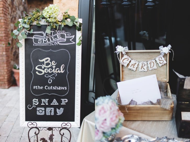 rustic and romantic wedding signage