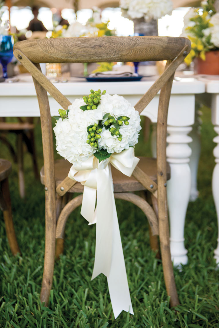 waterfront wedding french country chair