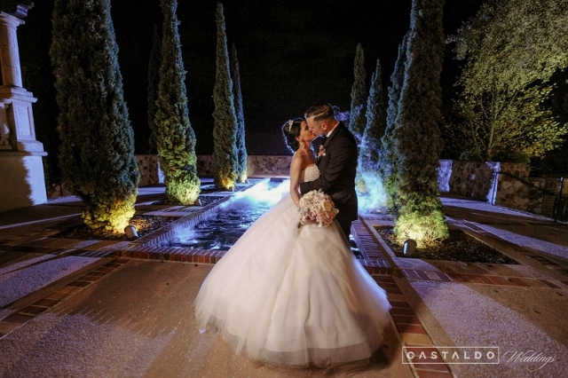 Blush and Gold at Bella Collina: Nicki and David