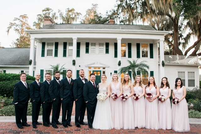 cypress grove wedding bridal party