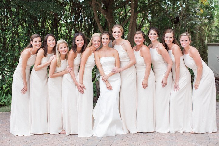 elegant green and gold wedding bridesmaids