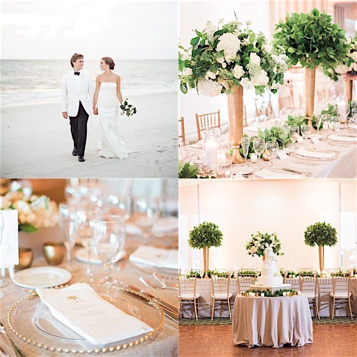 A White, Gold, and Green Wedding: Heather and Daniel - A Chair ...