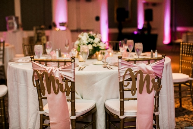 rich cream and shimmering gold wedding couple table