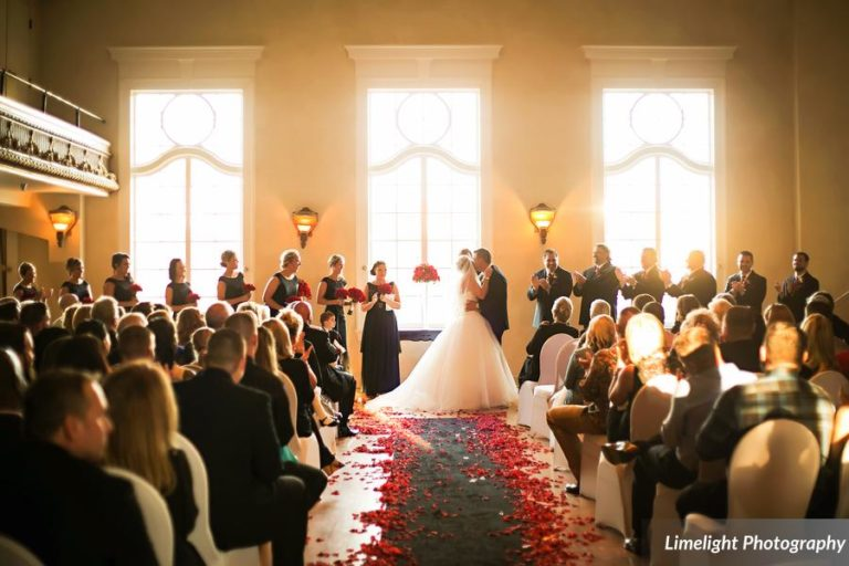 vivacious red and black mordern wedding ceremony