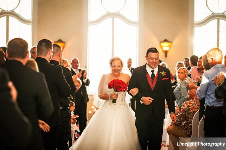 vivacious red and black mordern wedding ceremony exit
