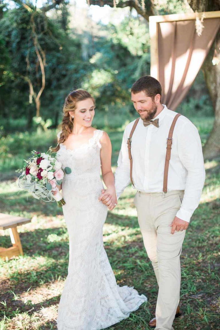 bride and groom model