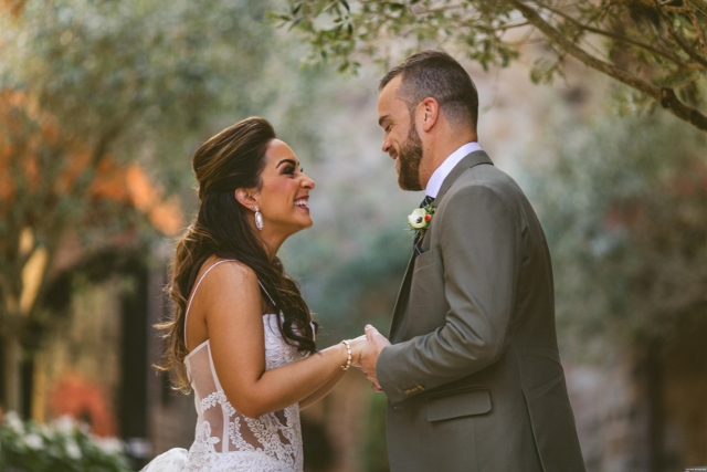 bella collina breathtaking ox blood gold wedding, bride and groom