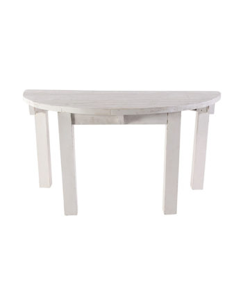 "60"" Whitewashed Half Moon Table - A Chair Affair"