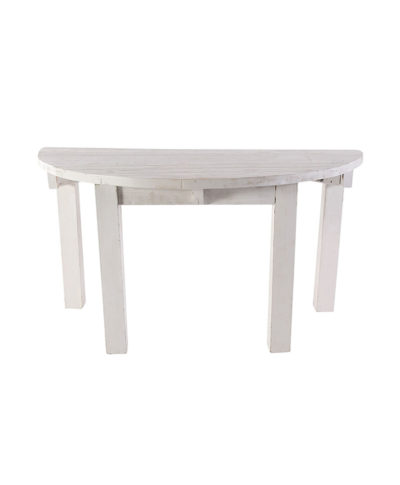 60″ Whitewashed Half Moon Table – A Chair Affair