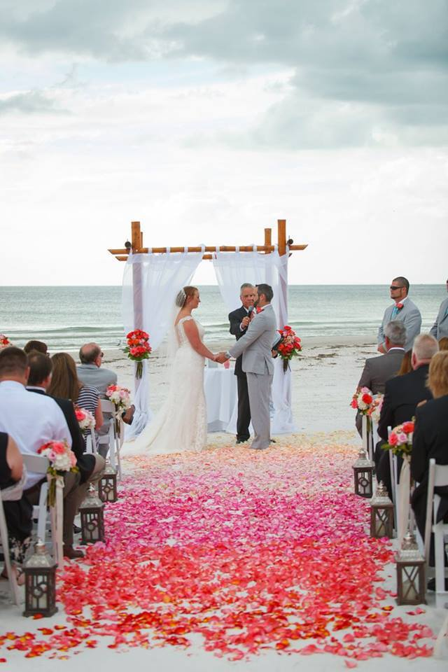 Colorful Wedding on the Beach, ceremony decor