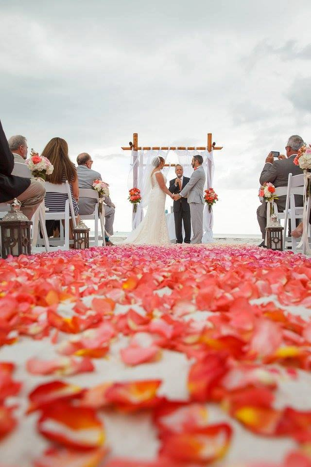 Colorful Wedding on the Beach, ceremony