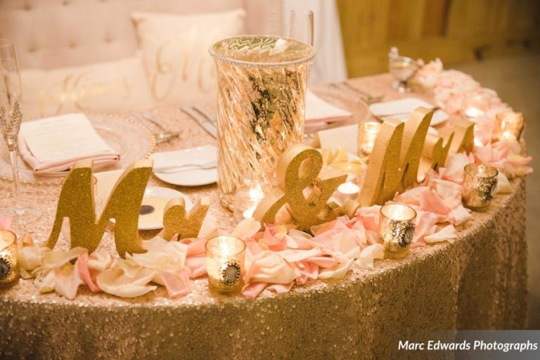 Windsong Ranch Newlywed Table Detail