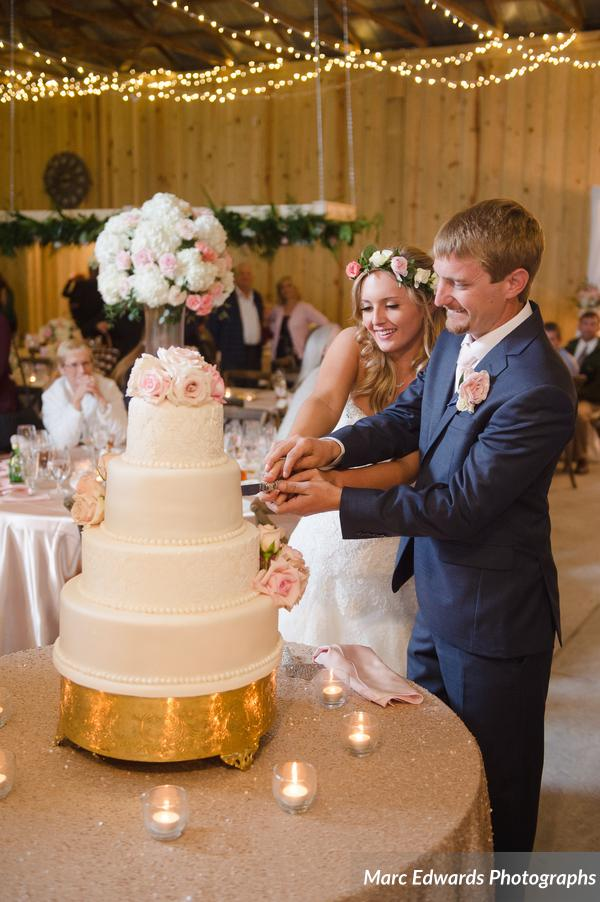 Windsong Ranch Reception Cake Cutting