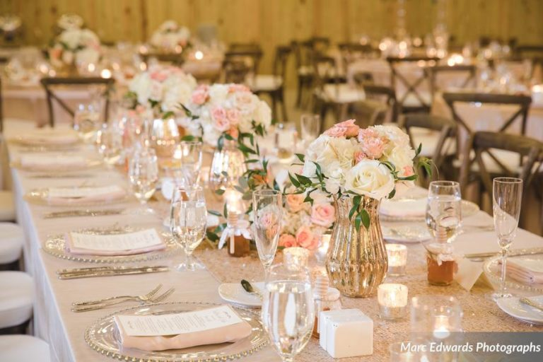 Windsong Ranch Reception Table Setting