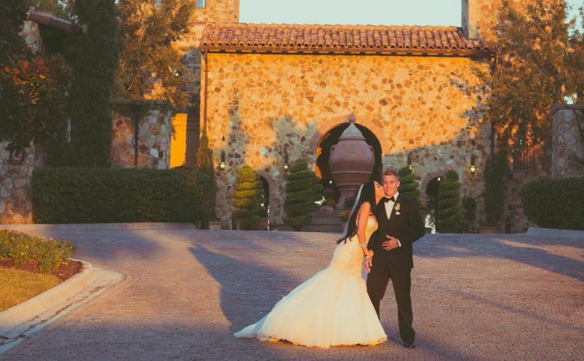 Ivory and Gold Bella Collina Wedding