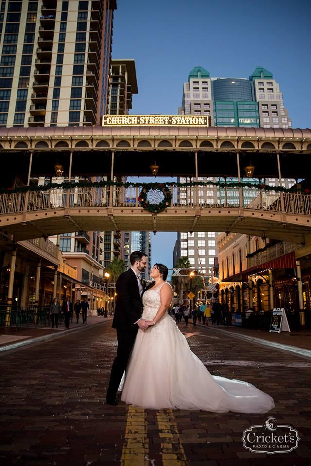 romantic ceviche orlando wedding, bride and groom