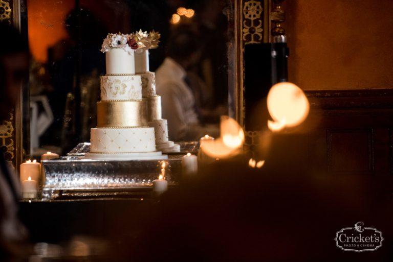 romantic ceviche orlando wedding, cake
