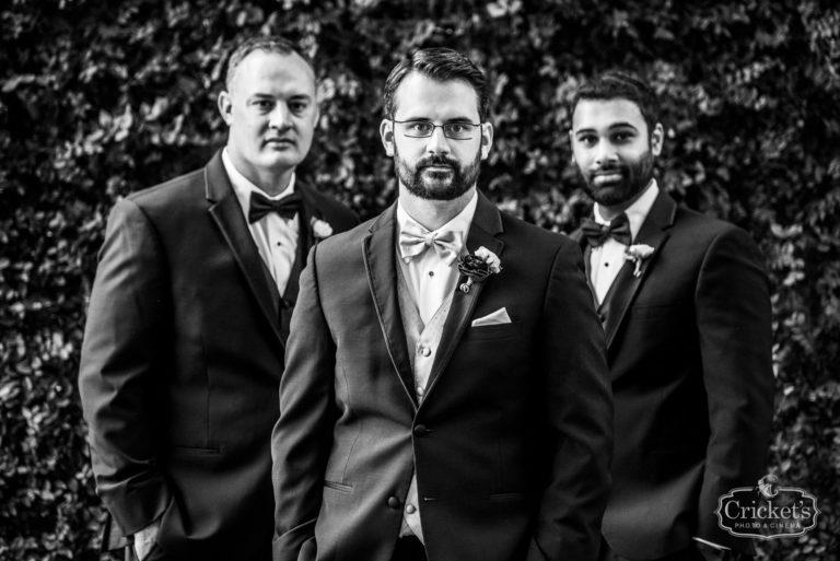 romantic ceviche orlando wedding, groomsmen