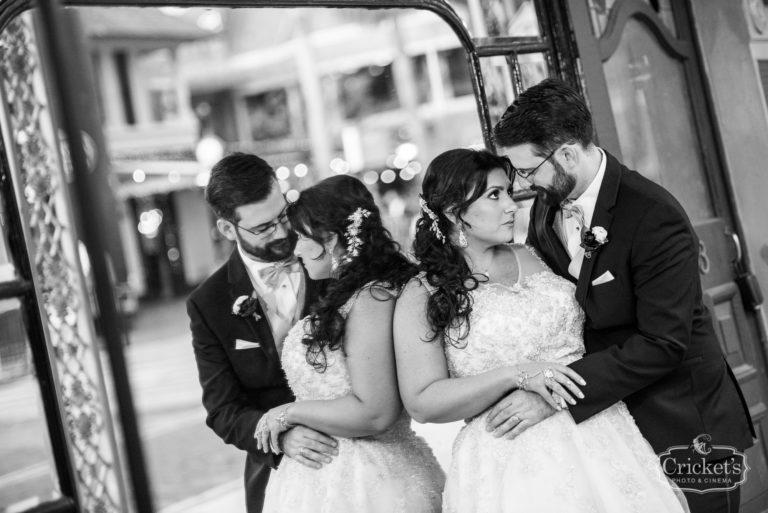 romantic ceviche orlando wedding, mirror image