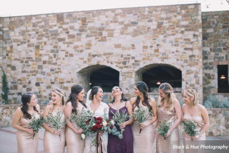 Bella Collina Bohemian Wedding Bridal Pary