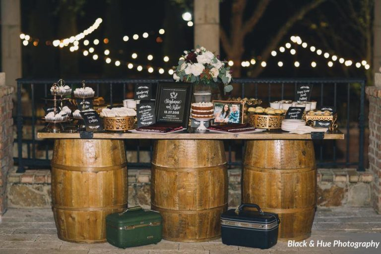 Blog - Post - Bella Collina Bohemian Wedding wine barrels