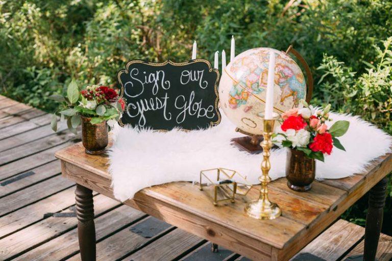 Bohemian Wedding GLobe Table