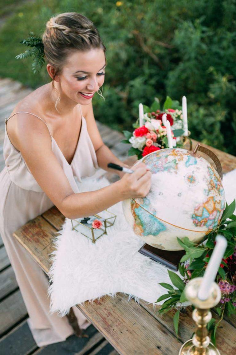 Bohemian Wedding Globe