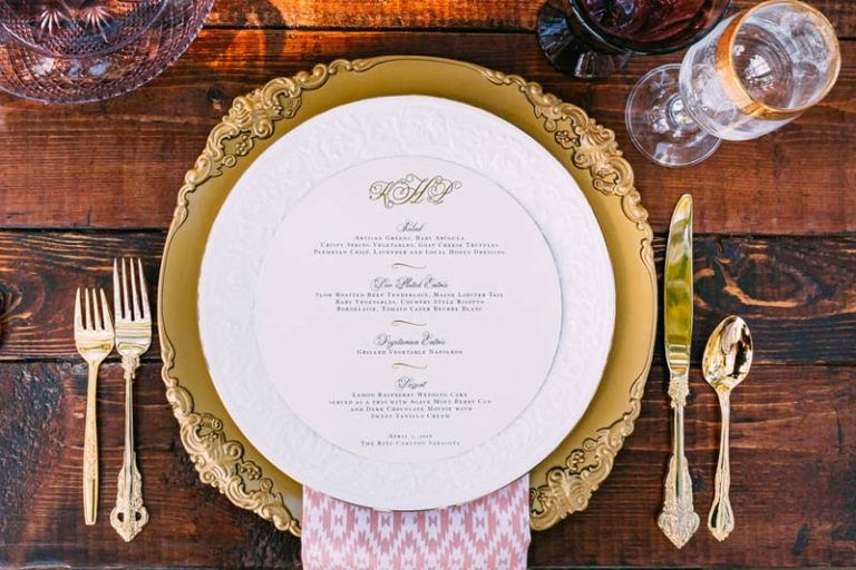 Bohemian Wedding Gold Charger