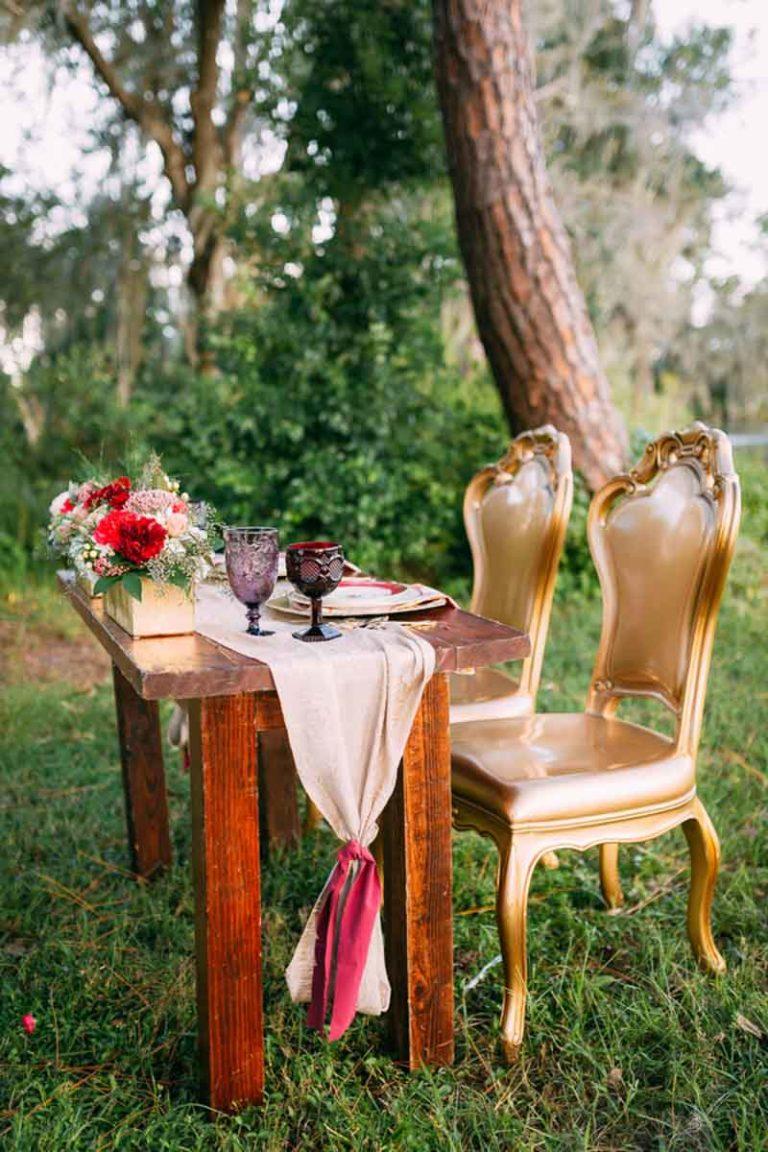 Bohemian Wedding Gold Seats